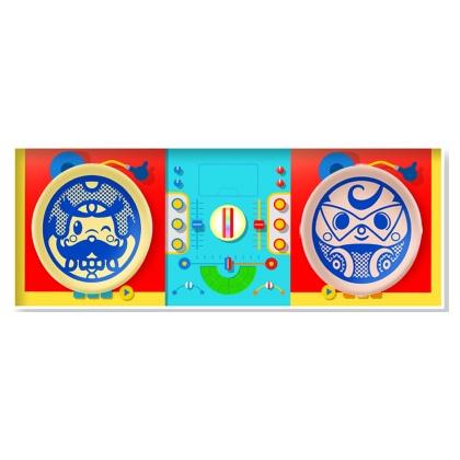 オトッペ 豆皿 DJ紙箱セット(ウィンディパパ・モータロンver)