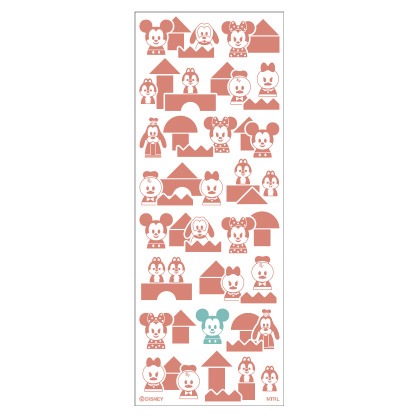 Disney KIDEA注染てぬぐいレッド