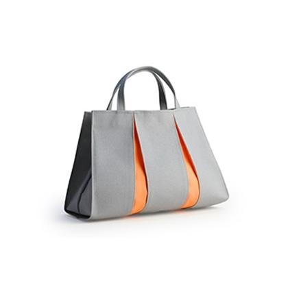 ougiトートバッグPH ライトグレー/オレンジ