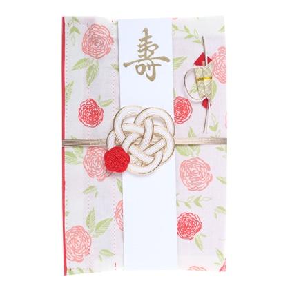 ご祝儀袋 結姫 musubime 白梅(コットン)花咲(赤)