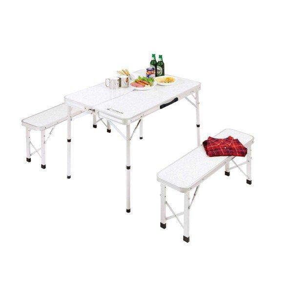 キャプテンスタッグ ラフォーレ ベンチインテーブルセット UC-0005 アウトドア チェア テーブル セット