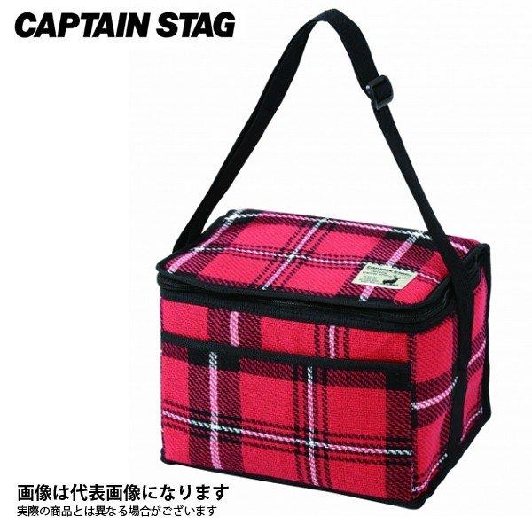 キャプテンスタッグ 起毛 クーラーバッグ 6L(レッド) UE-535 ソフトクーラー 保冷バッグ 保冷キャンプ用品 アウトドア用品