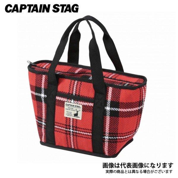 キャプテンスタッグ 起毛 トートクーラーバッグ 4L(レッド) UE-537 ソフトクーラー 保冷バッグ 保冷キャンプ用品 アウトドア用品