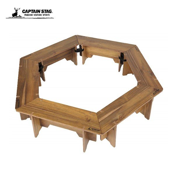 キャプテンスタッグ CSクラシックス FIRE&GRILLテーブルセット<6P> UP-1038 アウトドア用品 テーブル セット