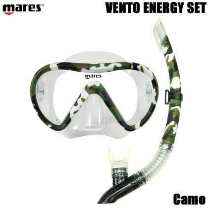 【マレス】シュノーケルセット mares VENTO ENERGY SET ベント エナジー セット 【色を選択】