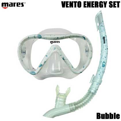 【マレス】シュノーケルセット mares VENTO ENERGY SET ベント エナジー セット 481105【シュノーケリング用マスクとシュノーケル】 Bubble