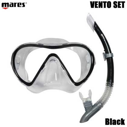【マレス】シュノーケルセット mares VENTO SET ベント セット 481104【シュノーケリング用マスクとシュノーケル】 【色を選択】