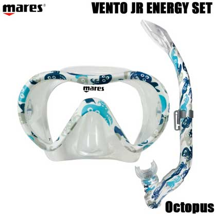 【マレス】シュノーケルセット mares VENTO JR ENERGY SET ベント ジュニア エナジー セット 481107【シュノーケリング用マスクとシュノーケル】