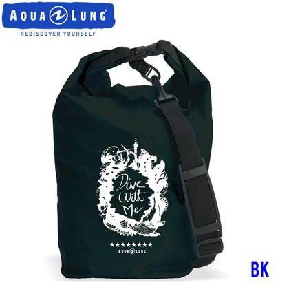 【アクアラング】WATERPROOF BAG with Shoulder Belt AQUALUNG ウォータープルーフバッグ ショルダーベルト付き【防水バッグ】 ブラック