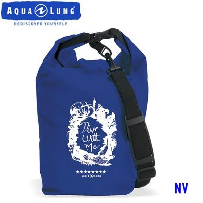 【アクアラング】WATERPROOF BAG with Shoulder Belt AQUALUNG ウォータープルーフバッグ ショルダーベルト付き【防水バッグ】 ネイビーブルー
