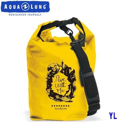 【アクアラング】WATERPROOF BAG with Shoulder Belt AQUALUNG ウォータープルーフバッグ ショルダーベルト付き【防水バッグ】 イエロー