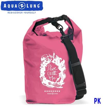 【アクアラング】WATERPROOF BAG with Shoulder Belt AQUALUNG ウォータープルーフバッグ ショルダーベルト付き【防水バッグ】 ピンク