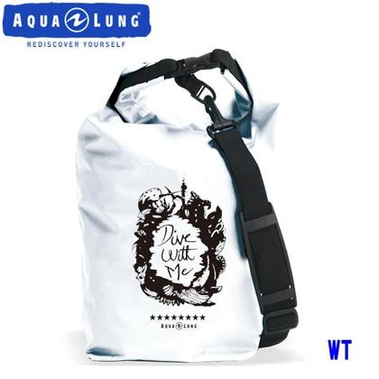 【アクアラング】WATERPROOF BAG with Shoulder Belt AQUALUNG ウォータープルーフバッグ ショルダーベルト付き【防水バッグ】 ホワイト