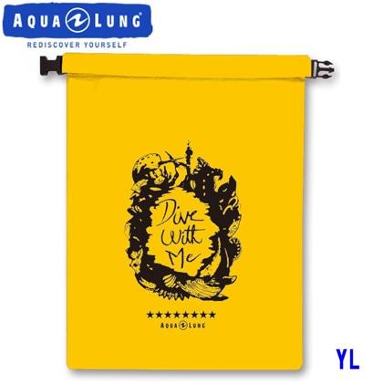 【アクアラング】WATERPROOF BAG AQUALUNG ウォータープルーフバッグ【Mサイズ】【防水バッグ】 イエロー