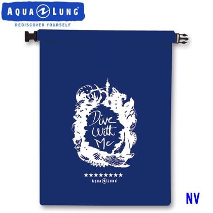 【アクアラング】WATERPROOF BAG AQUALUNG ウォータープルーフバッグ【Mサイズ】【防水バッグ】 ネイビーブルー