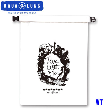 【アクアラング】WATERPROOF BAG AQUALUNG ウォータープルーフバッグ【Mサイズ】【防水バッグ】 ホワイト