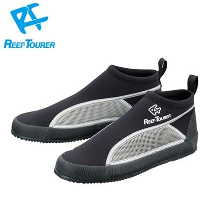 【ReefTourer】RBW3041 マリンシューズ BK(ブラック)【シュノーケリング用】 26cm