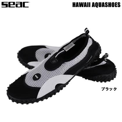 【SEAC】HAWAII AQUASHOSE マリンシューズ ブラック アクアシューズ 23cm-32cm【シュノーケリング用】 44