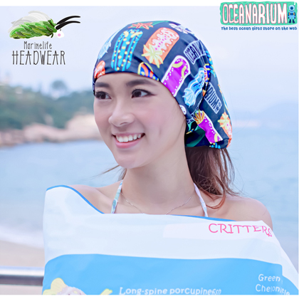 【OCEANARIUM】バンダナ(ウミウシ) H07 NUDIBRANCH HEADWEAR 26cm x 50cm