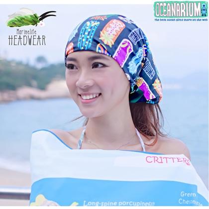 【OCEANARIUM】バンダナ(ウミウシ) H07 NUDIBRANCH HEADWEAR 26cm x 50cm