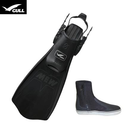 【GULL】MEW CYPHER ミュー・サイファー + ブーツ2点セット【ブラック】 22cm