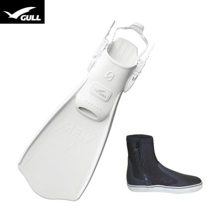 【GULL】MEW CYPHER ミュー・サイファー + ブーツ2点セット【ホワイト】 23cm
