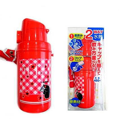 くまモン2WAY水筒 レッド