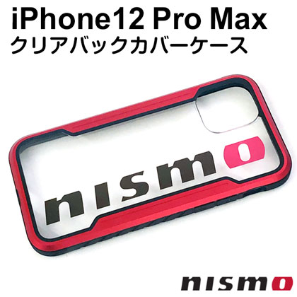 nismo ビックロゴクリアバックカバーケース for iPhone12 Pro Max [NM-P20L-PC1 RD]