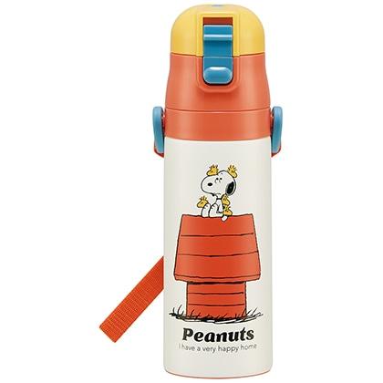 超軽量ダイレクトステンレスボトル470ml PEANUTS/レトロシリーズ(ハウス)