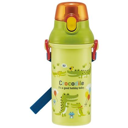 抗菌食洗機対応直飲プラワンタッチボトル クロコダイル