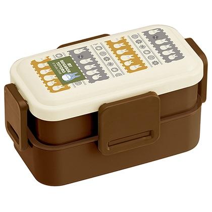 抗菌食洗機対応2段ふわっと弁当箱 小トトロ PFLW4AG