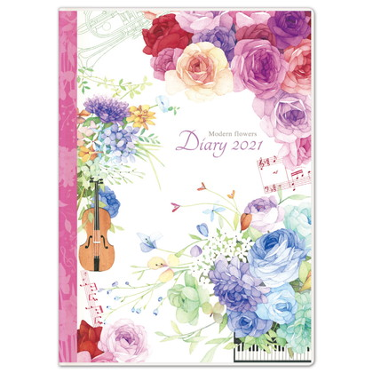 DY−05 2021版手帳モダンフラワー 楽器 A5