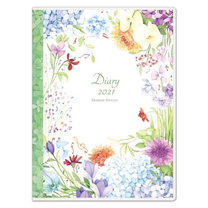DY−12 2021版手帳モダンフラワー 音符 A6