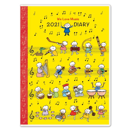 DY−17 2021版手帳Quuイエロー A6