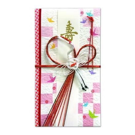 SG−223祝儀袋 寿 鶴と折り鶴