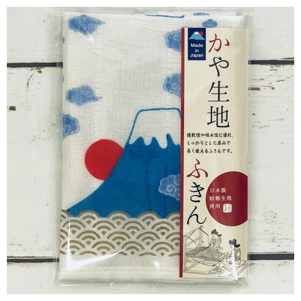 FKN−004かや生地ふきん 四小間富士山