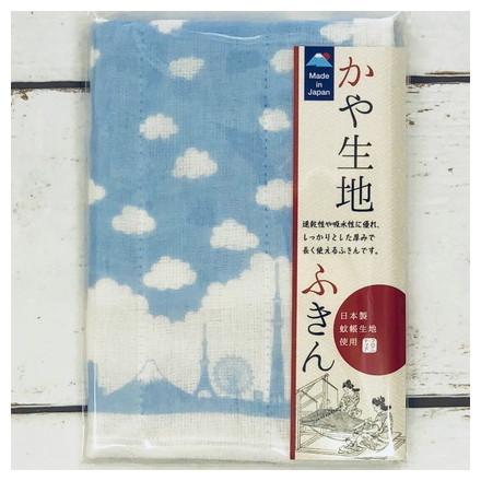 FKN−007かや生地ふきん 日本シルエット