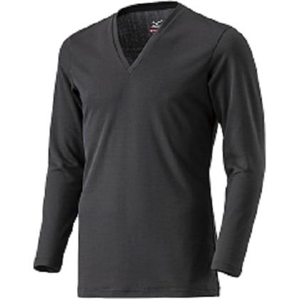 ブレスサーモアンダーウェア    Vネック長袖シャツ [メンズ] ブラック ・ L