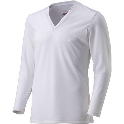 ブレスサーモアンダーウェア  Vネック長袖シャツ [メンズ] オフホワイト ・ M