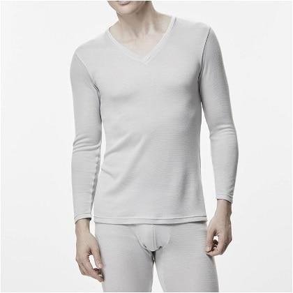 ブレスサーモアンダーウェアプラス    Vネック長袖シャツ [メンズ] ブラック