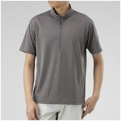 ドライベクタージップ半袖シャツ[メンズ]  チャコール