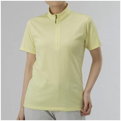 ドライベクターハーフジップ半袖シャツ[レディース] レモングラス