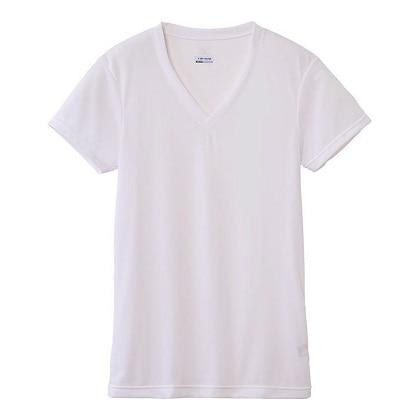 【ドライベクターエブリ】Vネック半袖シャツ[メンズ] オフホワイト・L