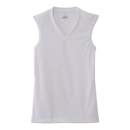 【ドライベクターエブリ】Vネックノースリーブシャツ[メンズ] オフホワイト・L