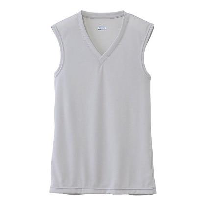 【ドライベクターエブリ】Vネックノースリーブシャツ[メンズ] ベイパーシルバー・XL