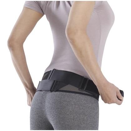腰部骨盤ベルト(メッシュタイプ) ブラック×グレー M-L