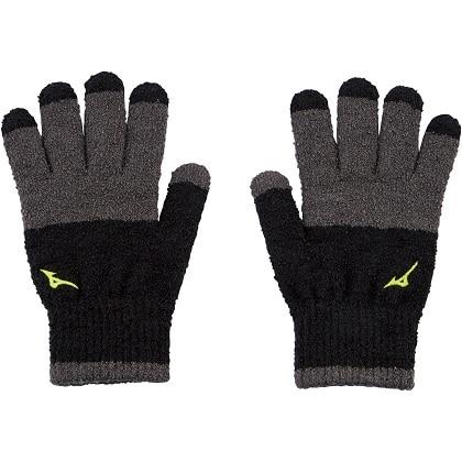 ブレスサーモ手袋 [ユニセックス] ブラック×エボニー