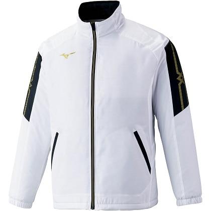 ブレスサーモ中綿ウォーマージャケット[ユニセックス] ホワイト ・ M