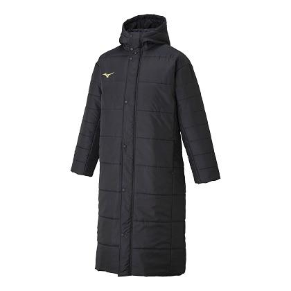 中綿ロングコート[ユニセックス]ブラック・XL