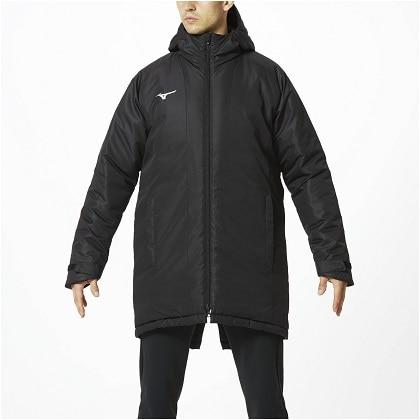 中綿ブレスサーモミドル丈コート[ユニセックス]ブラック・XL